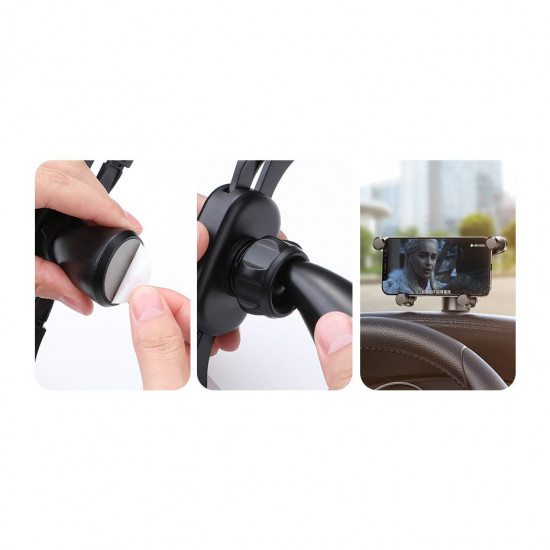 Baseus Horizontal Screen Gravity Car Mobile Holder - Universal Βάση Αυτοκινήτου - Black - SUYL-HP01