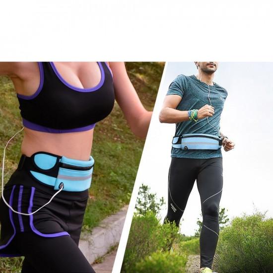 OEM Running Belt Ζώνη Τρεξίματος με Θήκη για Μπουκάλι και Έξοδο Καλωδίου Ακουστικών - Green