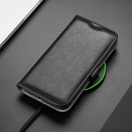 Dux Ducis Apple iPhone 11 Pro Max Kado Series Θήκη Πορτοφόλι Stand από Δερματίνη - Black