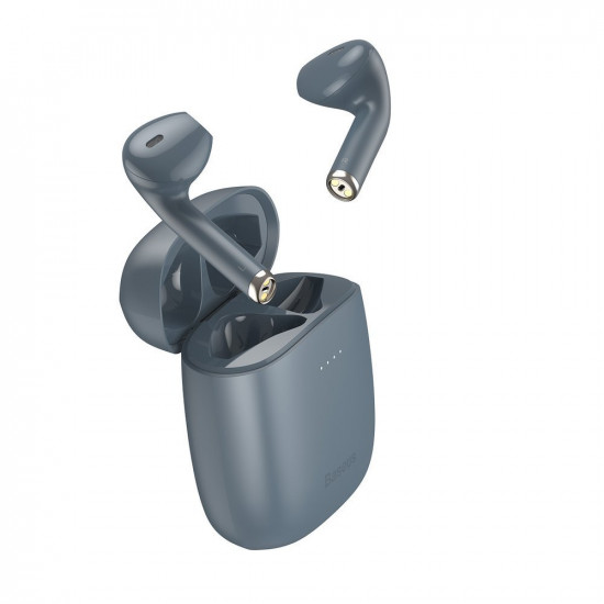 Baseus W04 Pro Wireless Earphones Bluetooth 5.0 - Ασύρματα ακουστικά για Κλήσεις / Μουσική - Grey - NGW04P-0G