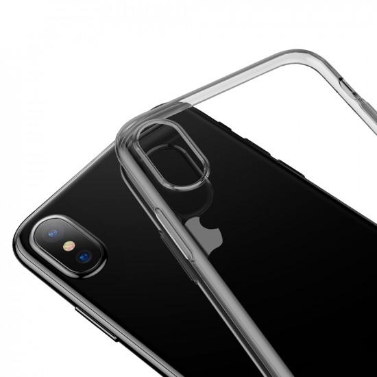 Baseus Simple Series TPU Case for Apple iPhone XS Max - Black - ARAPIPH65-A01