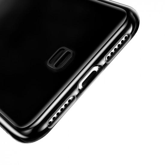 Baseus iPhone X / XS Transparent Key Θήκη Σιλικόνης με Λουράκι - Black / Διάφανη - WIAPIPH58-QA01