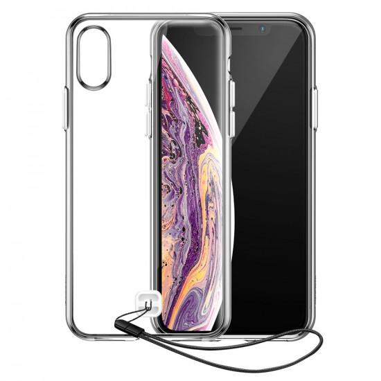 Baseus Apple iPhone X / XS Transparent Key Silicone TPU Case with Lanyard - Διάφανη - WIAPIPH58-QA02