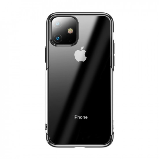 Baseus Glitter Electroplating Σκληρή Θήκη για Apple iPhone 11 - Black - WIAPIPH61S-DW01