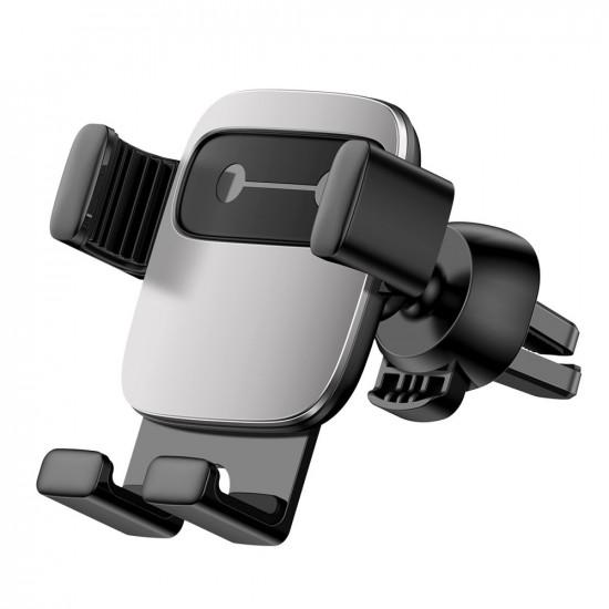 Baseus Cube Gravity Car Air Vent Mobile Holder - Universal Βάση Αυτοκινήτου Αεραγωγού - Silver - SUYL-FK0S