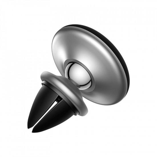 Baseus Star Ring Μαγνητική Βάση Αυτοκινήτου Αεραγωγού - Silver - SUHQ-0S