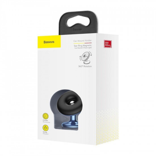 Baseus Star Ring Universal Magnetic Car Mount Holder (Paste Type) for Smartphones / iPhones - Μαγνητική Βάση Αυτοκινήτου - Blue - SUGENT-HQ03
