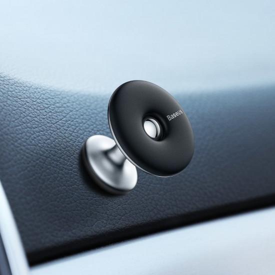 Baseus Star Ring Universal Magnetic Car Mount Holder (Paste Type) for Smartphones / iPhones - Μαγνητική Βάση Αυτοκινήτου - Silver - SUGENT-HQ0S