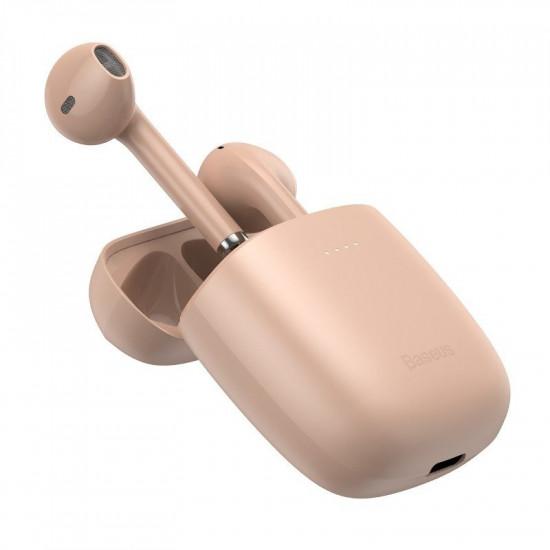 Baseus W04 Pro Wireless Earphones Bluetooth 5.0 - Ασύρματα ακουστικά για Κλήσεις / Μουσική - Pink - NGW04P-04