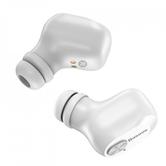 Baseus Encok W01 Truly Wireless Headset - Ασύρματα ακουστικά Bluetooth 5.0 - White - NGW01-02