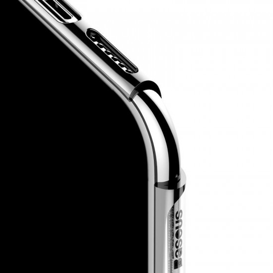Baseus Apple iPhone 11 Shining Case - Θήκη Σιλικόνης - Clear / Silver - ARAPIPH61S-MD0S