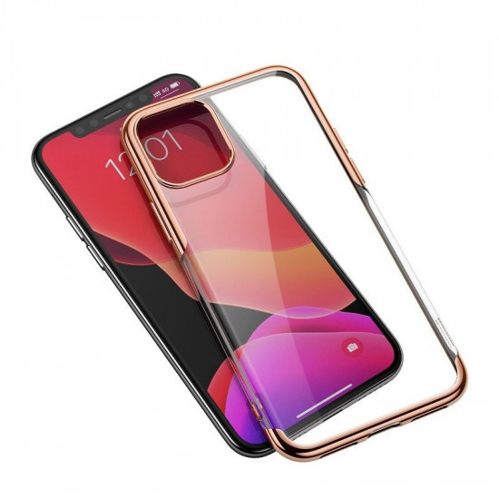 Baseus Apple iPhone 11 Shining Case - Θήκη Σιλικόνης - Clear / Gold - ARAPIPH61S-MD0V