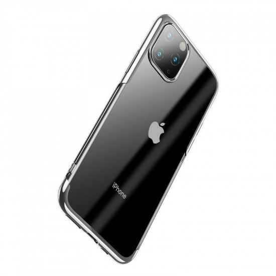 Baseus Apple iPhone 11 Pro Max Shining Case - Θήκη Σιλικόνης - Clear / Silver - ARAPIPH65S-MD0S
