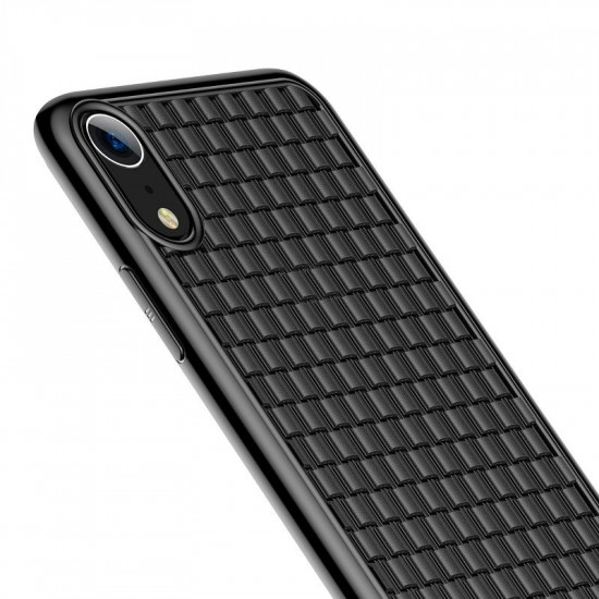 Baseus Apple iPhone XR BV Weaving Θήκη Σιλικόνης - Black - WIAPIPH61-BV01