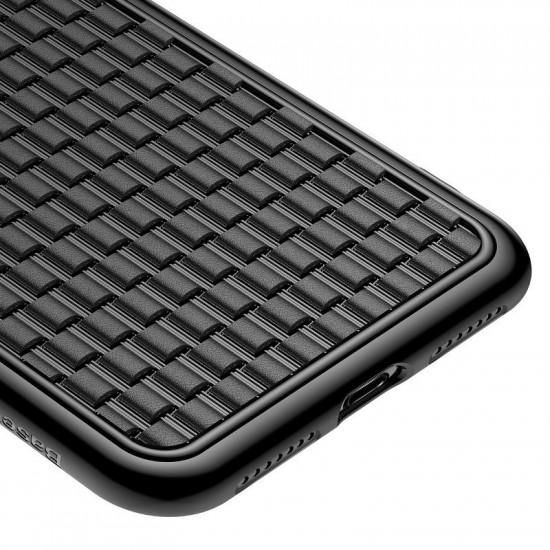 Baseus Apple iPhone XS Max BV Weaving Θήκη Σιλικόνης - Black - WIAPIPH65-BV01