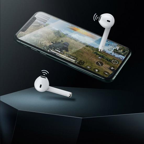 Baseus W04 Pro Wireless Earphones Bluetooth 5.0 - Ασύρματα ακουστικά για Κλήσεις / Μουσική - White - NGW04P-02
