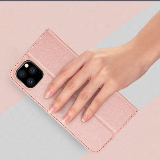 Dux Ducis Apple iPhone 11 Pro Max Flip Stand Case Θήκη Βιβλίο - Rose Gold