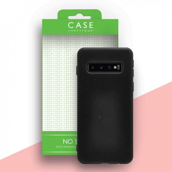 Case FortyFour Samsung Galaxy S10 Plus No.100 Θήκη Σιλικόνης με Ανακυκλώσιμο και Βιοδιασπώμενο Υλικό - Black