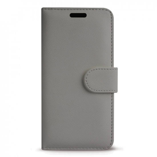 Case FortyFour Apple iPhone 11 No.11 PU Leather Θήκη Πορτοφόλι Stand από Συνθετικό Δέρμα - Cross Grain Stone