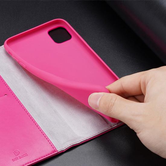 Dux Ducis Apple iPhone 11 Kado Series Θήκη Πορτοφόλι Stand από Δερματίνη - Pink