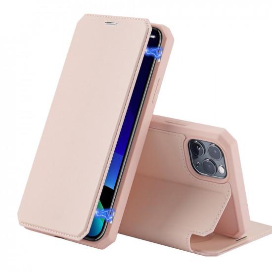 Dux Ducis Apple iPhone 11 Pro Max Skin X Flip Stand Case Θήκη Βιβλίο - Pink