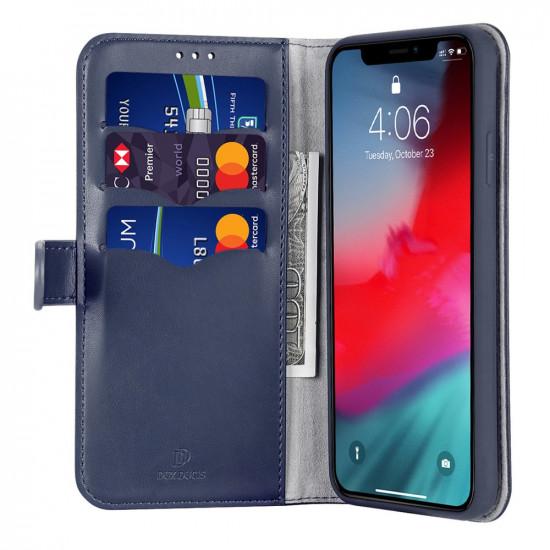 Dux Ducis Apple iPhone 11 Pro Max Kado Series Θήκη Πορτοφόλι Stand από Δερματίνη - Blue
