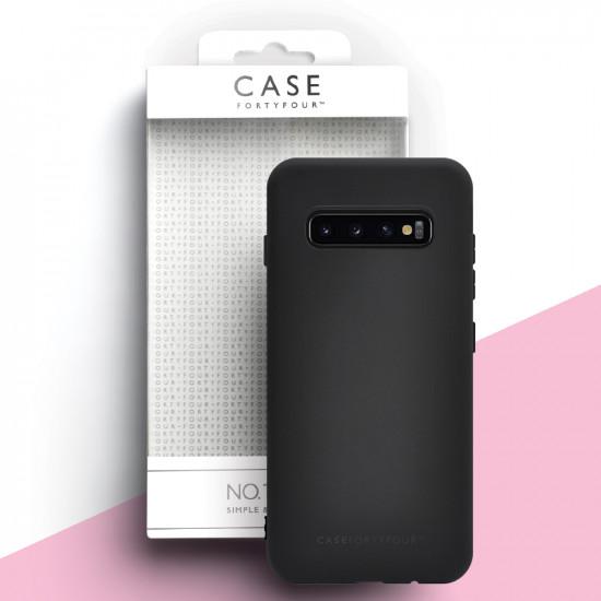 Case FortyFour Samsung Galaxy S10 Plus No.1 Λεπτή Θήκη Σιλικόνης - Black