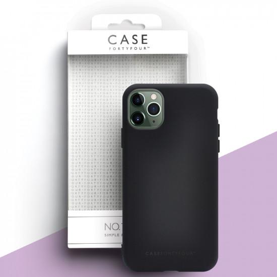 Case FortyFour Apple iPhone 11 Pro Max No.1 Λεπτή Θήκη Σιλικόνης - Black