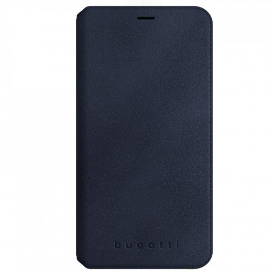 Bugatti Apple iPhone X / XS Parigi Ultrasuede Θήκη Βιβλίο από Γνήσιο Δέρμα - Blue