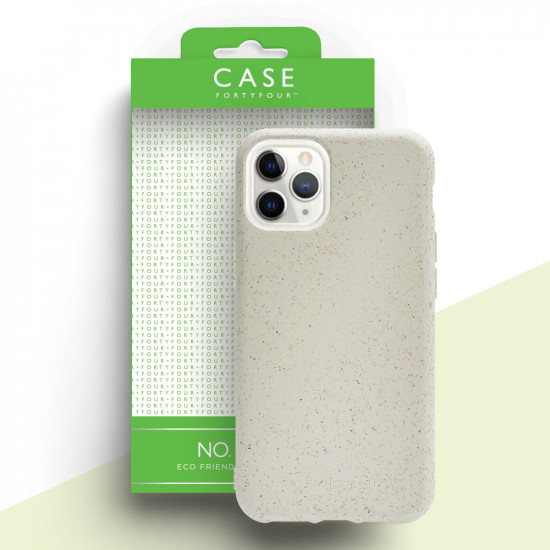 Case FortyFour Apple iPhone 11 Pro Max No.100 Θήκη Σιλικόνης με Ανακυκλώσιμο και Βιοδιασπώμενο Υλικό - White