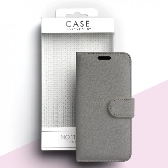 Case FortyFour Apple iPhone 11 Pro No.11 PU Leather Θήκη Πορτοφόλι Stand από Συνθετικό Δέρμα - Cross Grain Stone