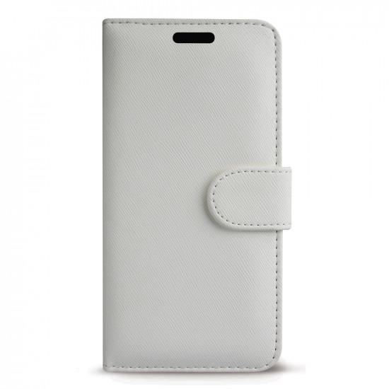 Case FortyFour Apple iPhone 11 Pro Max No.11 PU Leather Θήκη Πορτοφόλι Stand από Συνθετικό Δέρμα - Cross Grain White