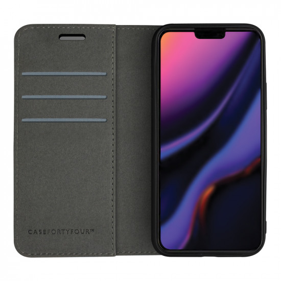 Case FortyFour Apple iPhone 11 Pro Max No.11 PU Leather Θήκη Πορτοφόλι Stand από Συνθετικό Δέρμα - Cross Grain Pink