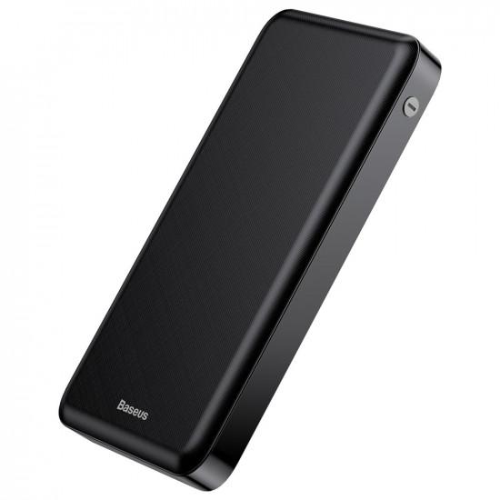 Baseus M36 Wireless Charger Power Bank 10000mAh 2.1Α με 2 Θύρες USB και Ασύρματη Φόρτιση QI - Black - PPALL-M3601