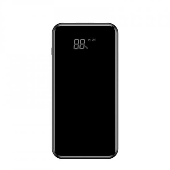Baseus Bracket Wireless Charger Power Bank 8000mAh με 2 Θύρες USB και Ασύρματη Φόρτιση QI - Black - PPALL-EX01