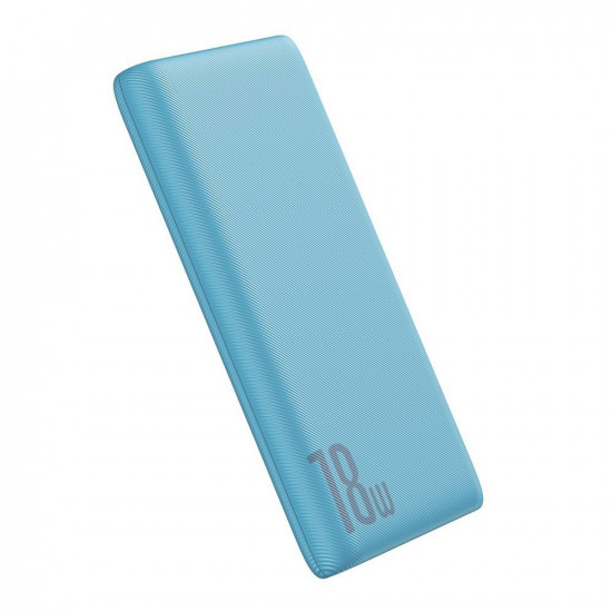 Baseus Bipow PD Quick Charge 3.0 External Battery Power Bank 10000mAh 3A USB and Type C for Smartphones - Blue - PPDML-03