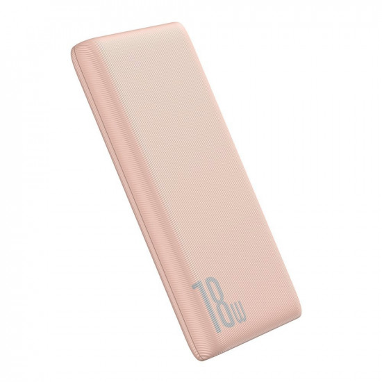 Baseus Bipow PD Quick Charge 3.0 External Battery Power Bank 10000mAh 3A USB and Type C for Smartphones - Pink - PPDML-04
