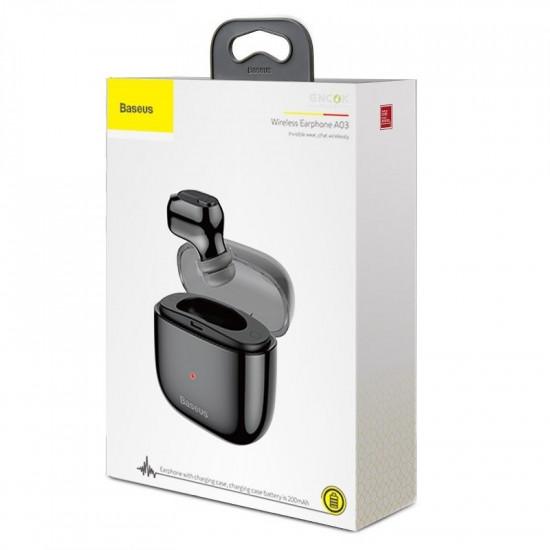 Baseus Encok A03 Ασύρματο ακουστικό Bluetooth 5.0 - Black - NGA03-01