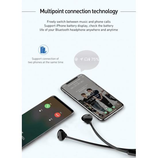 Baseus Encok Necklace S11A Bluetooth 5.0 - Ασύρματα Αθλητικά Ακουστικά για Smartphone / iPhone - Black - NGS11A-01