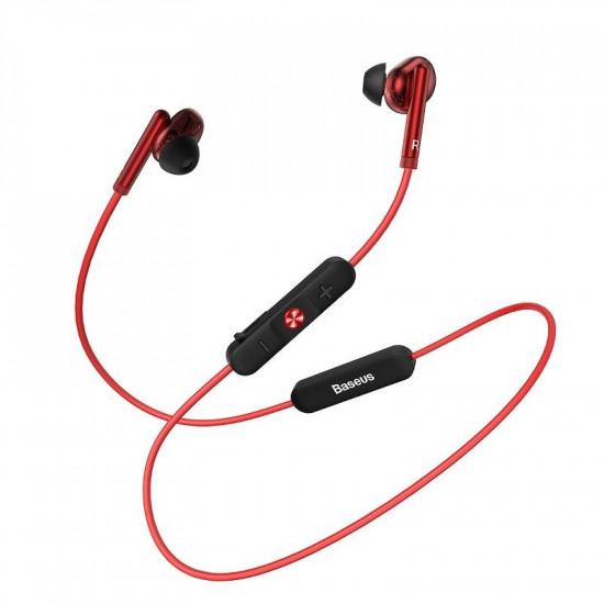 Baseus Encok S30 Sports Bluetooth 5.0 Headset - Ασύρματα Ακουστικά για Smartphones - Red - NGS30-09
