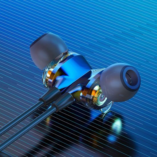 BlitzWolf BW-BTS4 Bluetooth 5.0 - Ασύρματα Αθλητικά Ακουστικά για Smartphone / iPhone - Black / Blue