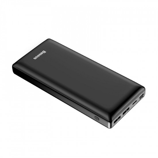 Baseus Mini Ja Power Bank 30000mAh 3A με Θύρα Type C και 2 Θύρες USB - Black - PPJAN-C01