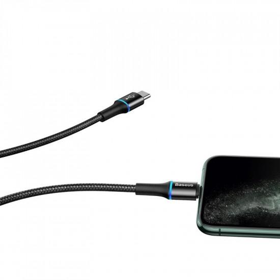 Baseus Halo PD 18W - Καλώδιο Δεδομένων και Φόρτισης Type-C to Lightning 1M - Black - CATLGH-01