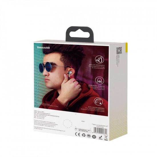 Baseus Encok S30 Sports Bluetooth 5.0 Headset - Ασύρματα Ακουστικά για Smartphones - Silver - NGS30-0S