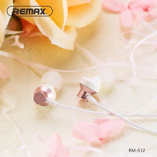 Remax RM-512 Handsfree Ακουστικά με Ενσωματωμένο Μικρόφωνο - Rose Gold