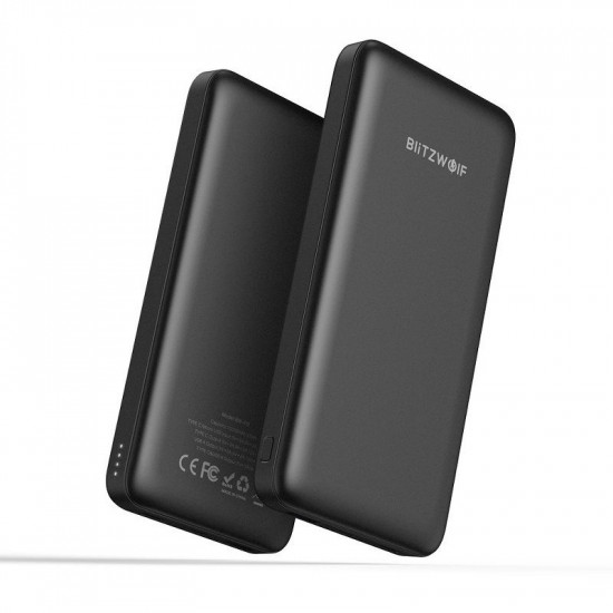 BlitzWolf BW-P9 PD Quick Charge 3.0 18W External Battery Power Bank 10000mAh 3A for Smartphones - Black