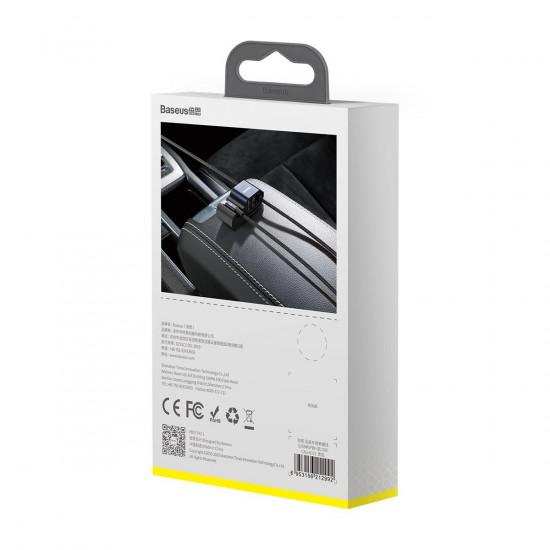 Baseus Special Data Cable for Backseat με 2xUSB Hub με Ενσωματωμένο Καλώδιο Lightning - Black - CALHZ-01