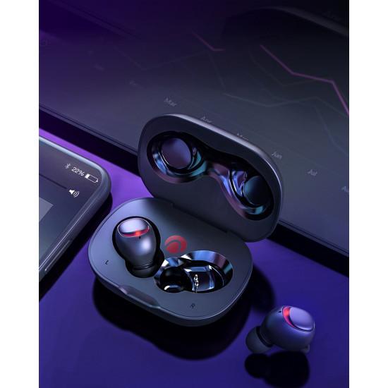 BlitzWolf Wireless Earphones Bluetooth 5.0 Ασύρματα ακουστικά για Κλήσεις / Μουσική - Black - AIRAUX AA-UM1