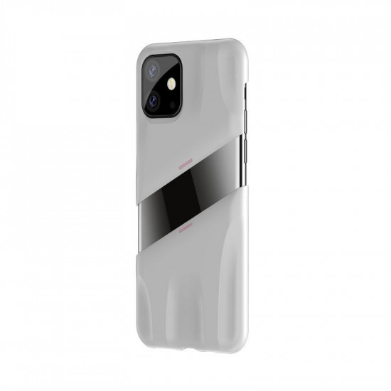 Baseus Apple iPhone 11 Let's go Airflow Cooling Game Σκληρή Θήκη με Σύστημα Ψύξης - White - Pink - WIAPIPH61S-GM24