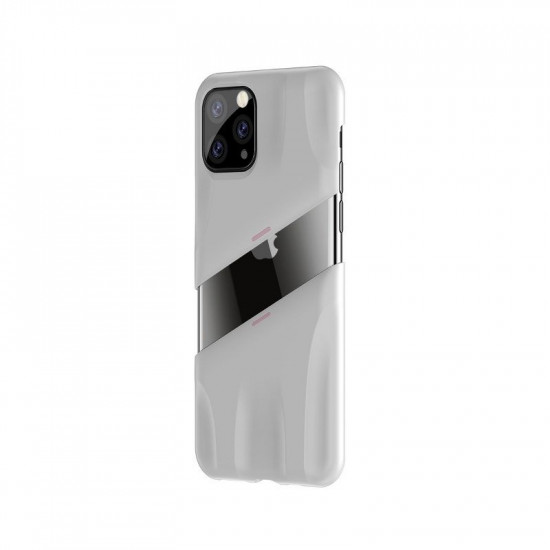 Baseus Apple iPhone 11 Pro Let's go Airflow Cooling Game Σκληρή Θήκη με Σύστημα Ψύξης - White - Pink - WIAPIPH58S-GM24